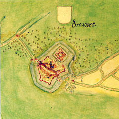 Bredevoort, by Jacob van Deventer, circa 1565