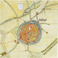 Oldenzaal, by Jacob van Deventer, circa 1565