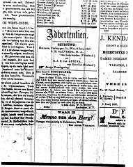 Letter to C. Schoemaker in the paper for a business deal exchanging Christian literature (Nieuwsbode)