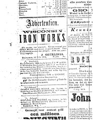 Ad for Ironworks, by J. Geerlings (Nieuwsbode, 1860)