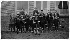 Bowling club at School O in Winterswijk around 1921.