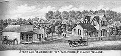 William Walvoord residence in Lancaster county, Nebraska.