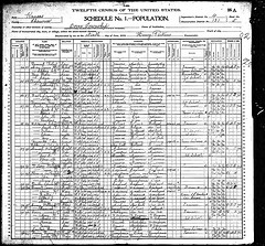 Dover, Shawnee county, Kansas 1900 census records