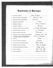 Marriage record of Jan Berend Hijink and Jannetje Neuwehuysen, Milwaukee, 19 Sep 1861.