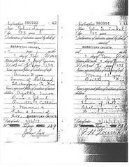 Naturalization record of Jan Hendrik te Winkel.